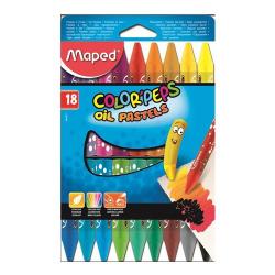 Pastely olejové MAPED/18 farebné