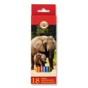 Ceruzky 18 farebné nelámavé 3553/18