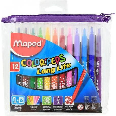 Fixky MAPED Color Peps 12 farieb