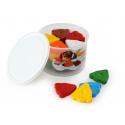 JOVI voskovky MEDVEDÍK, trojuholníkové 30ks, 10ks farieb základné, v kelímku