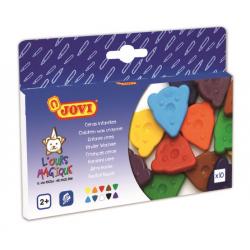 JOVI voskovky MEDVEDÍK, trojuholníkové 10ks, 10 farieb, základné