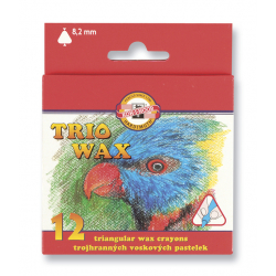 Ceruzky 8272/12 farebné voskové. 3HR 8,2mm