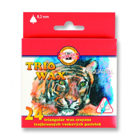 Ceruzky 8254/24 farebné voskové akvarel, 3HR 8,2mm