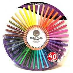 Simply sada farebnych ceruziek 40ks