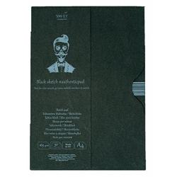 Blok čierne listy A4, 165g, 30 listov