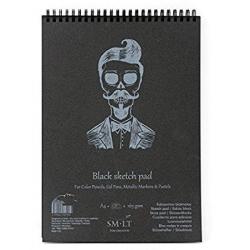 Blok Akvarelový čierny A4, 160g, 30listov