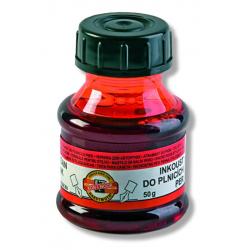 Atrament plniaci červený, 50ml