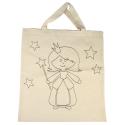 Bavlnená taška tlačná, víla 21x25cm