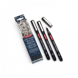 Derwent Graphik Line Marker, Black, sada