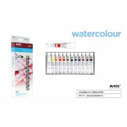 Sada akvarelových farieb 12x12ml