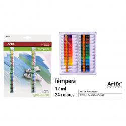 Sada temperových farieb 24x12ml