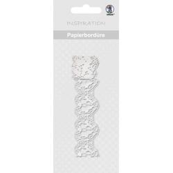 Papierová čipkovaná páska biela 2m