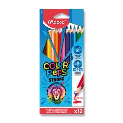 Ceruzky MAPED trojhranné 12 farebné STRONG