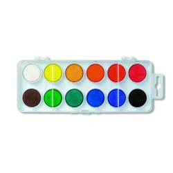 Vodové farby 30, 12 farieb. v bielom