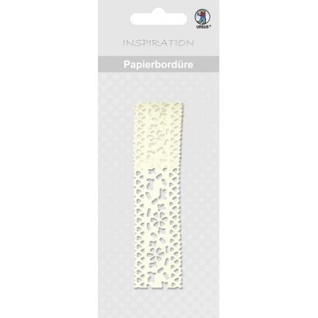 Papierová čipkovaná páska krémová 2m