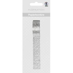 Papierová čipkovaná páska strieborná 2m