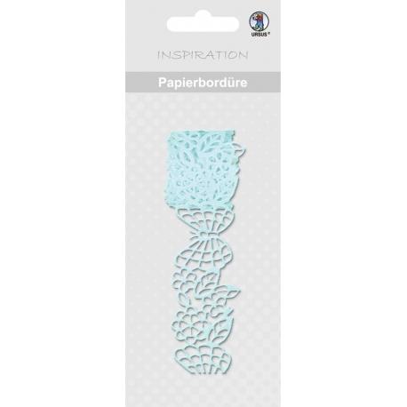 Papierová čipkovaná páska svetlo modrá 2m