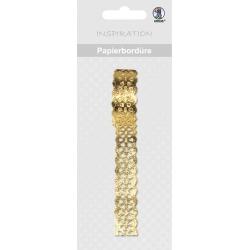 Papierová čipkovaná páska zlatá 2m