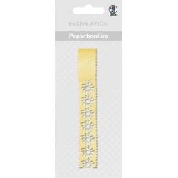 Papierová čipkovaná páska žltá 2m