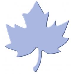 Výsekový strojček maxi javorový list