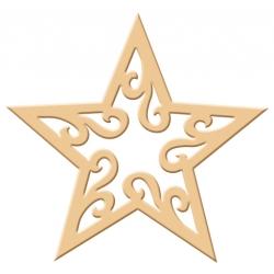 Výsekový strojček siluety veľký hviezda