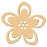 Výsekový strojček siluety veľký hviezdny kvet