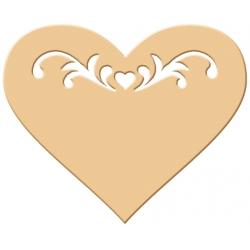 Výsekový strojček siluety veľký tetované srdce