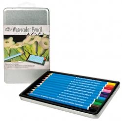 Akvarelové ceruzky, plechová krabica - 2505