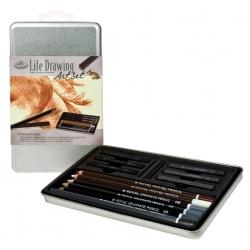 Grafický skicovací set, plechová krabica - 2501