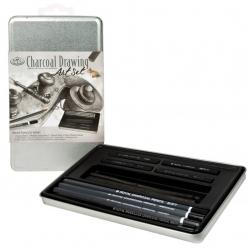 Uhlíkový set, plechová krabica - 2503