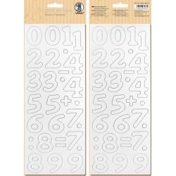 Biely kartón 12x30cm motív 2