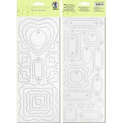 Biely kartón 12x30cm motív 3