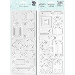 Biely kartón 12x30cm motív 4