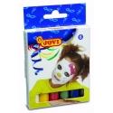 Farby na tvár 6x17g, tyčinky