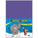 Školský kartón farebný A3 - 180g 50L/fialový