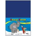 Školský kartón farebný A3 - 180g 50L/tm.modrý