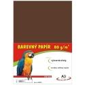 Farebný papier A3/80g 100L - hnedý