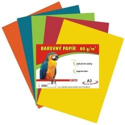 Farebný papier A3/80g 100L - MIX 5F