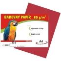 Farebný papier A4/80g 100L - červený