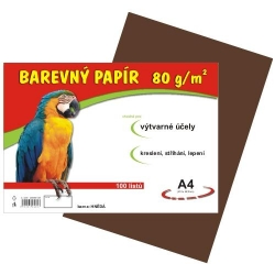 Farebný papier A4/80g 100L - hnedý